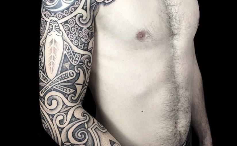 Sacred Knot celtic sleeve tattoo, Cerunnos