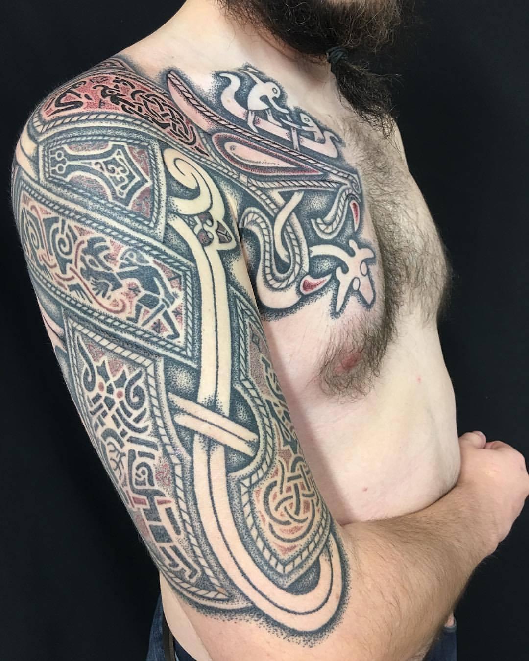 Sacred Knot Tattoo nordic tattoo viking tattoo anglo saxon tattoo