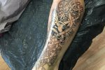 Book Of Kells inspired Celtic tattoo by Sean Parry of Sacred Knot