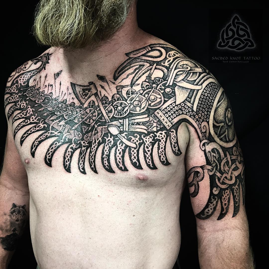 Raven tattoo by sacred knot (Sean parry) battle of fulford