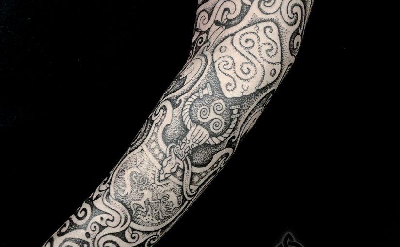 Irish Celtic tattoo by sacred knot, Sean parry, cù chulainn