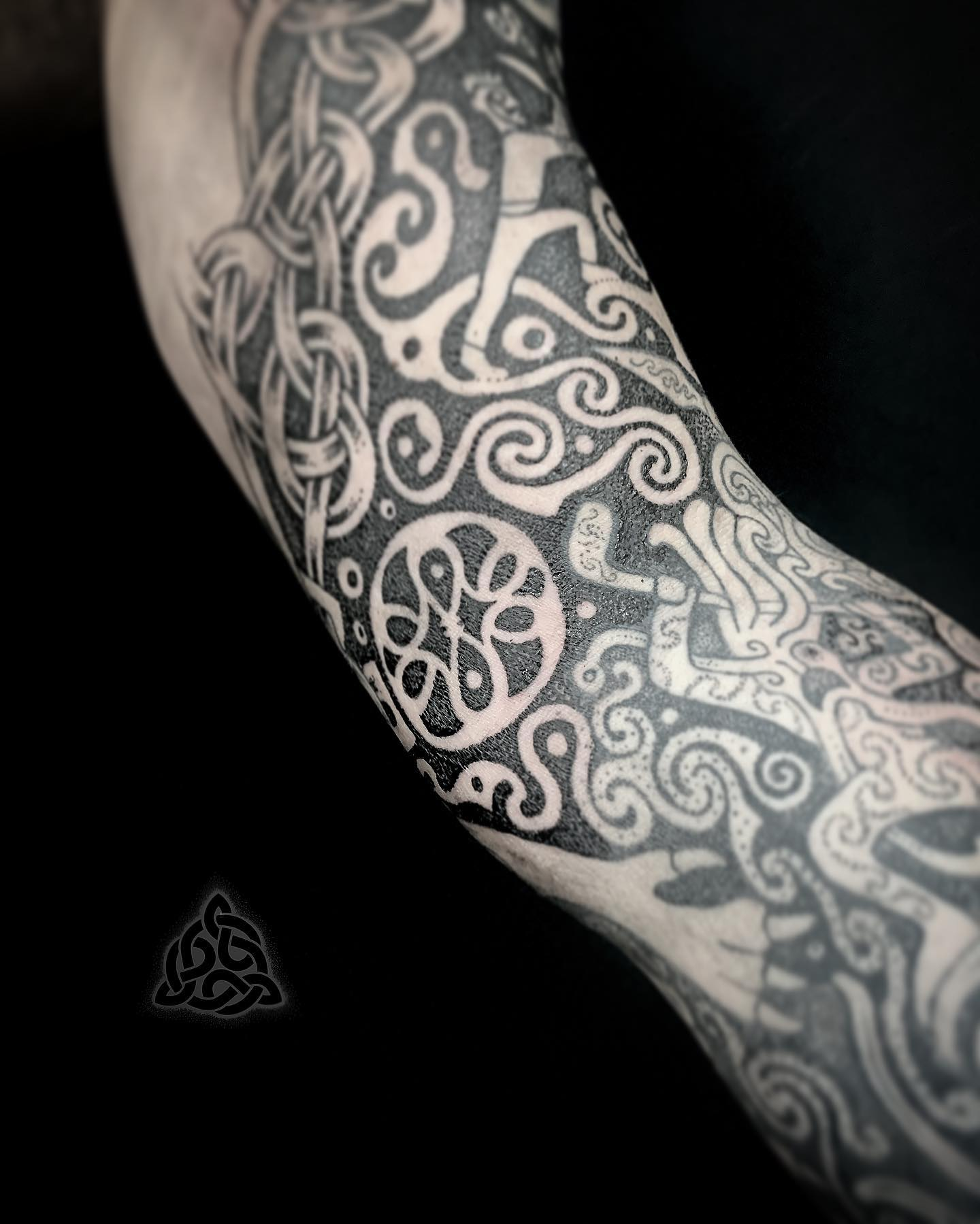 Celtic tattoo by Sean parry of sacred knot, ulster cycle