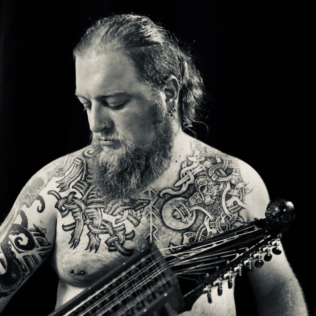 Chest Tattoo by sacred knot tattoo Sean parry nyckelharpa