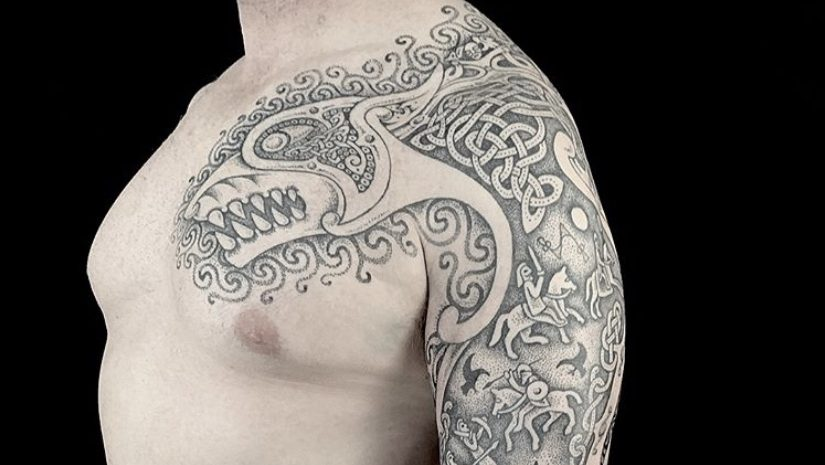 Pictish art by sacred knot tattoo