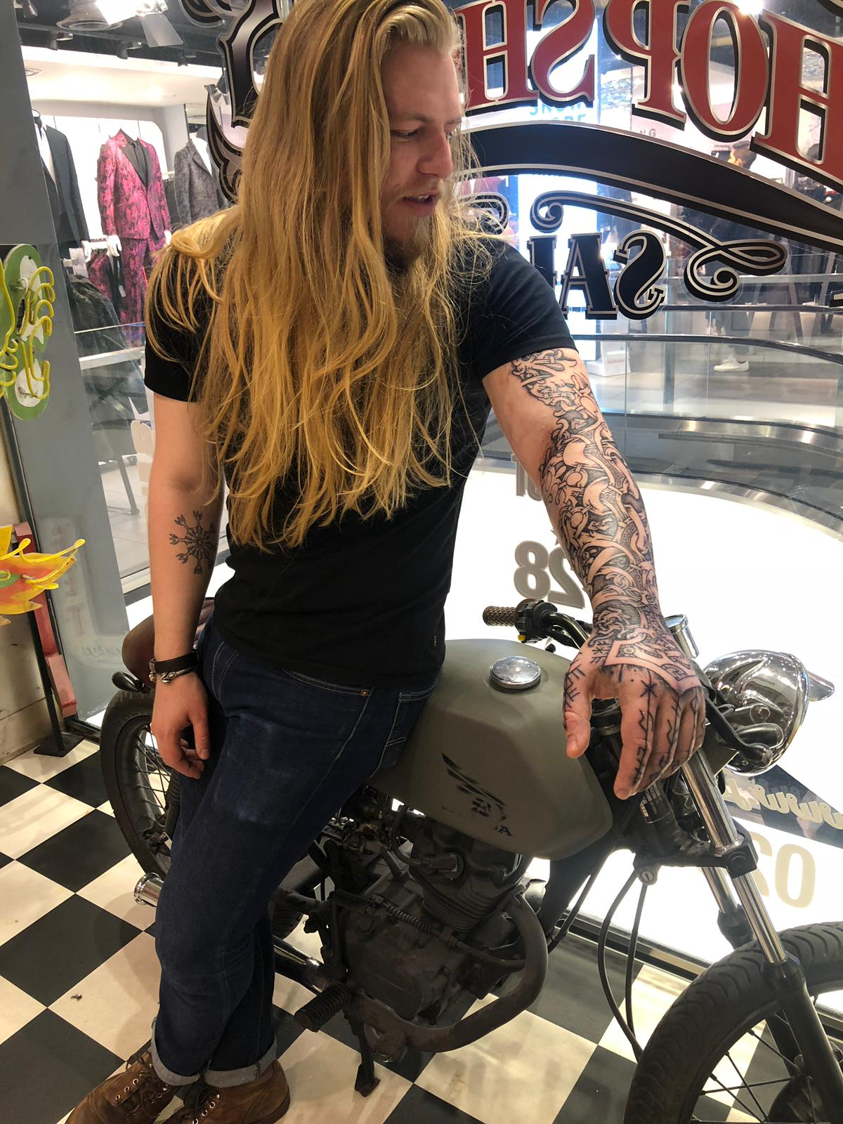 Nordic tattoo by Sean Parry, Viking mythology