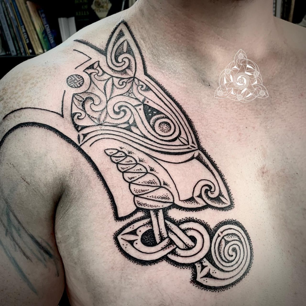 Insular Celtic Dog Tattoo by Sacred Knot